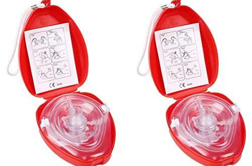 CPR Beatmungsmaske mit FilterLifesport 2 Stueck CPR Tasche Rescue Maske 500x330 - CPR Beatmungsmaske mit Filter,Lifesport 2 Stück CPR Tasche Rescue Maske mit aufgedruckter Ersthelfer-Anleitung und Transportbox Mund-zu-Mund Pocket-Gesichtsmaske Face-Mask.