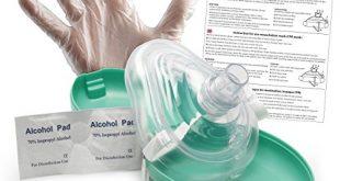 Lunata Upgrade 2019 Laien CPR Erste Hilfe Maske MIT Sauerstoffanschluss 310x165 - Lunata [Upgrade 2019] Laien CPR Erste Hilfe Maske MIT Sauerstoffanschluss, Notfallbeatmungsmaske, Notfallmaske, Beatmungsmaske mit Zubehör und Ersthelfer-Anleitung