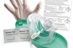 Lunata Upgrade 2019 Laien CPR Erste Hilfe Maske MIT Sauerstoffanschluss 310x205 - Lunata [Upgrade 2019] Laien CPR Erste Hilfe Maske MIT Sauerstoffanschluss, Notfallbeatmungsmaske, Notfallmaske, Beatmungsmaske mit Zubehör und Ersthelfer-Anleitung